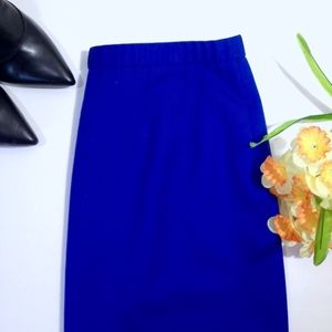 PENDLETON Blue Virgin Wool Pencil Skirt Size 12